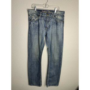 Antique Rivet light wash mens straight leg jeans